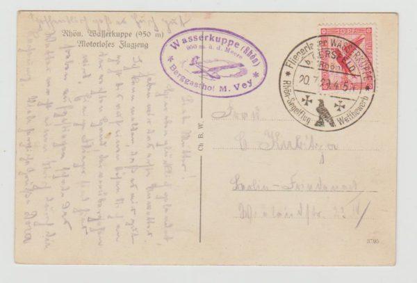 German early post-war airmail trials 1929