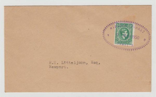 Jamaica Postal Agency Windsor Forest 1950