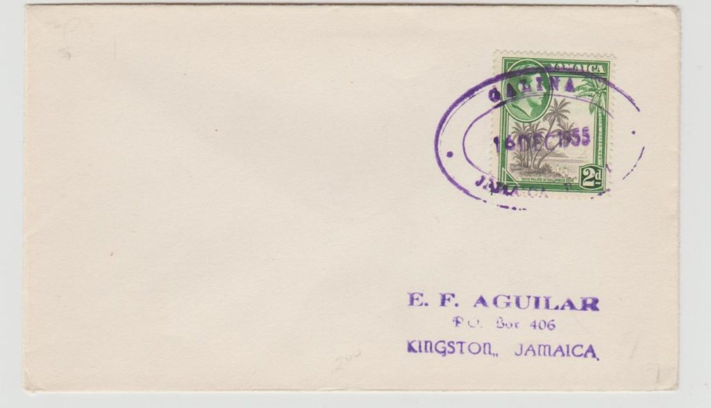 Jamaica Postal Agency Galina December 1955