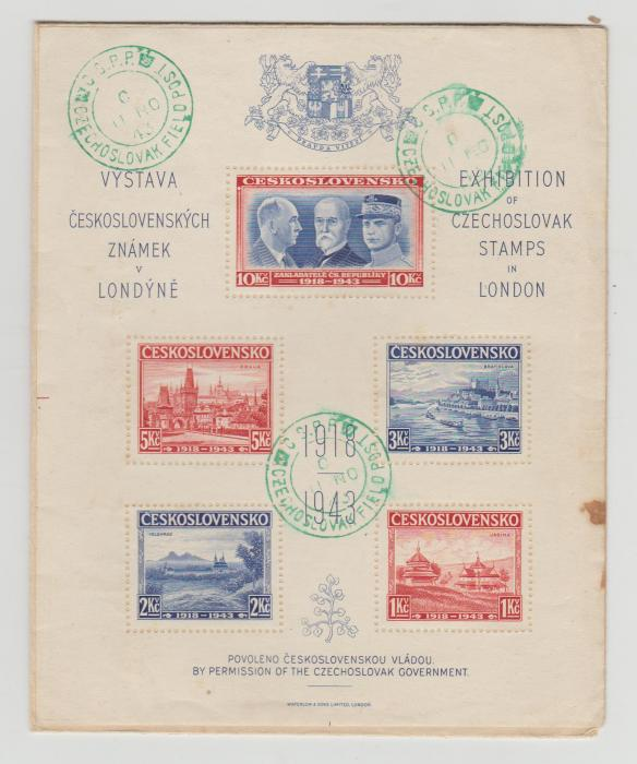 Czech Stamp Exhibition in London unaddressed cover