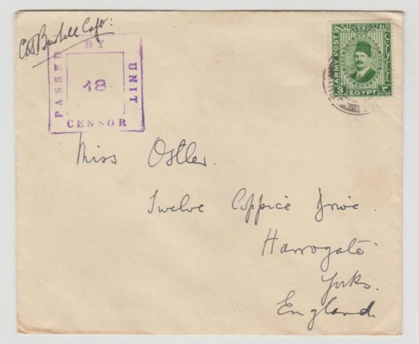 Military Mail from Egypt