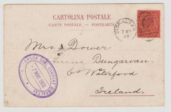 Gibraltar to Ireland 1903