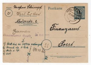 GERMANY: 1946 ZONAL POSTAL STATIONERY AND CANADA: AIRMAIL COVER WITH CFPO 45 PMKS - BOTH FROM WERL.