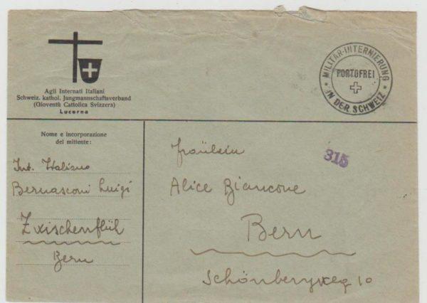 Italian internee in Switzerland 1941