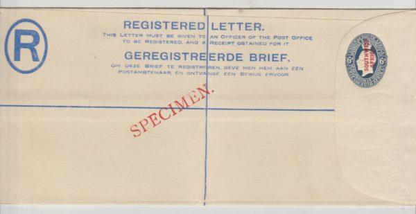 South West Africa registered envelope 1923