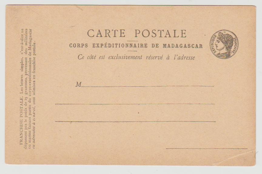 Madagascar Military Expedition card 1895