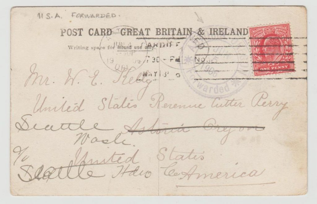 Card to a US Revenue Cutter