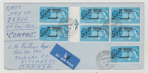 GB 'Compac' FDC to British Columbia