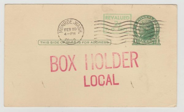 USA rural free delivery box holder 1952