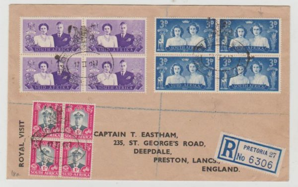 South Africa Royal Visit 1947 with plate flaw
