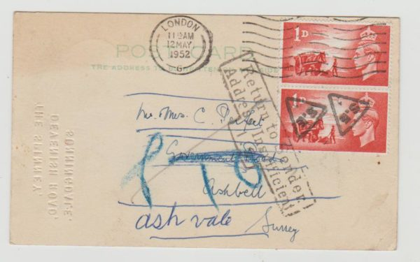 Channel Islands Return to Sender 1952