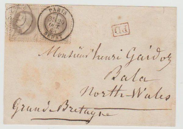 France 2 x Napoléon Lauré grey 1868