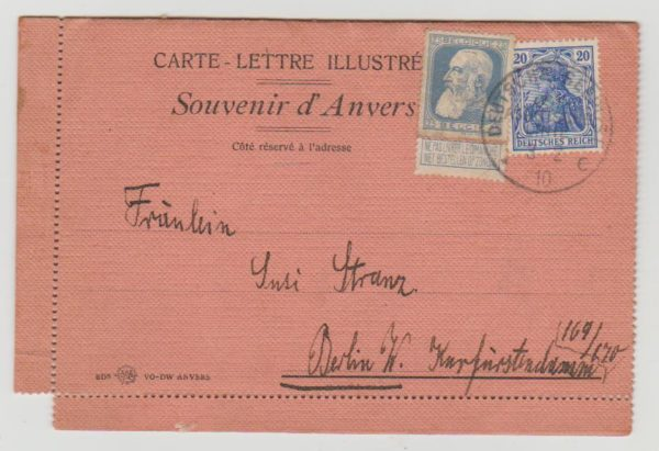 Belgium to Germany mixed franking