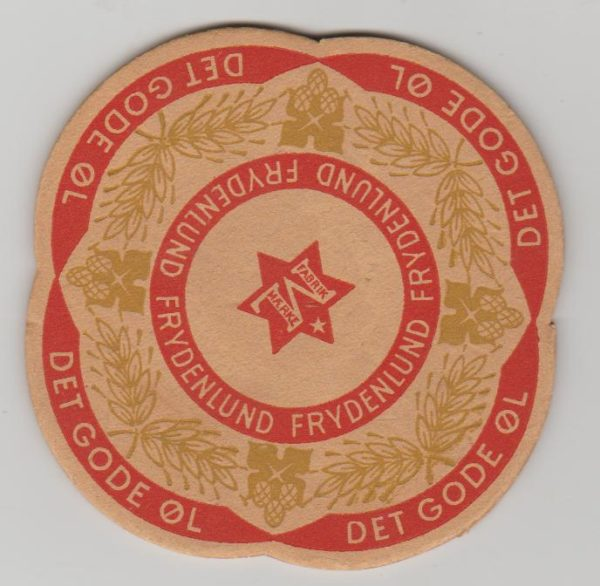 Norway a beermat sent through the post 1960
