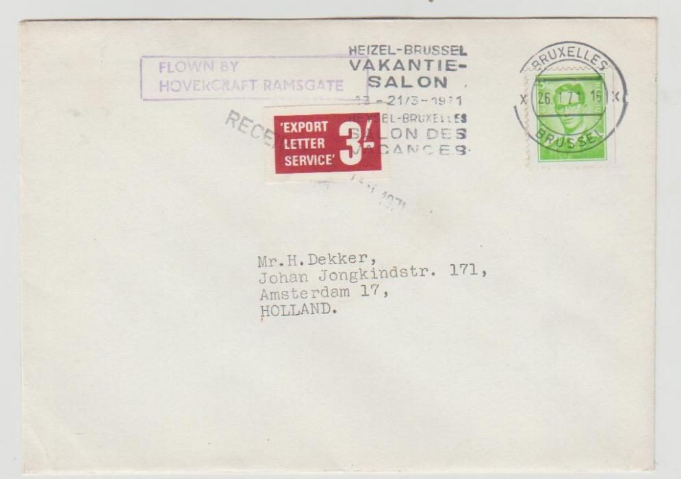 GB 1971 Postal Strike to Holland via Belgium