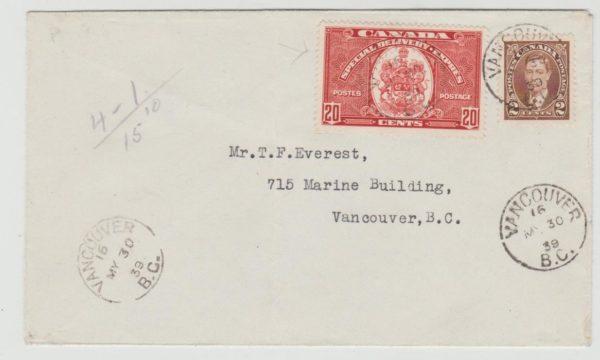 Canada special delivery 1939