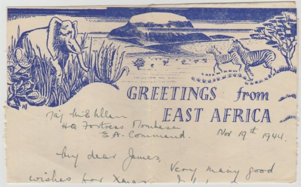 Air Letter Christmas Greetings 1944