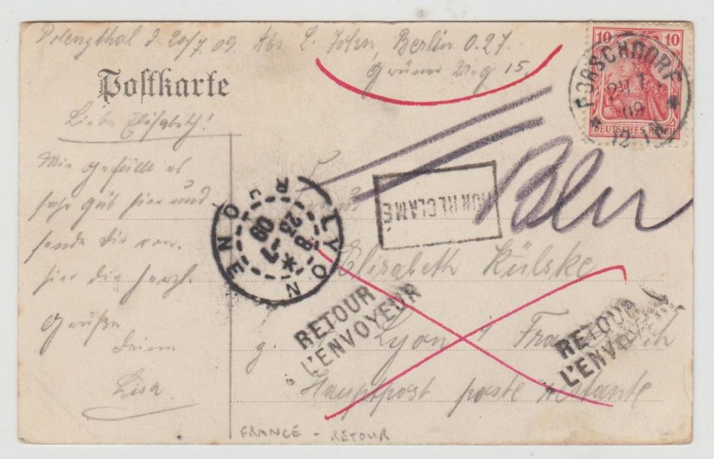 Germany return to sender 1909