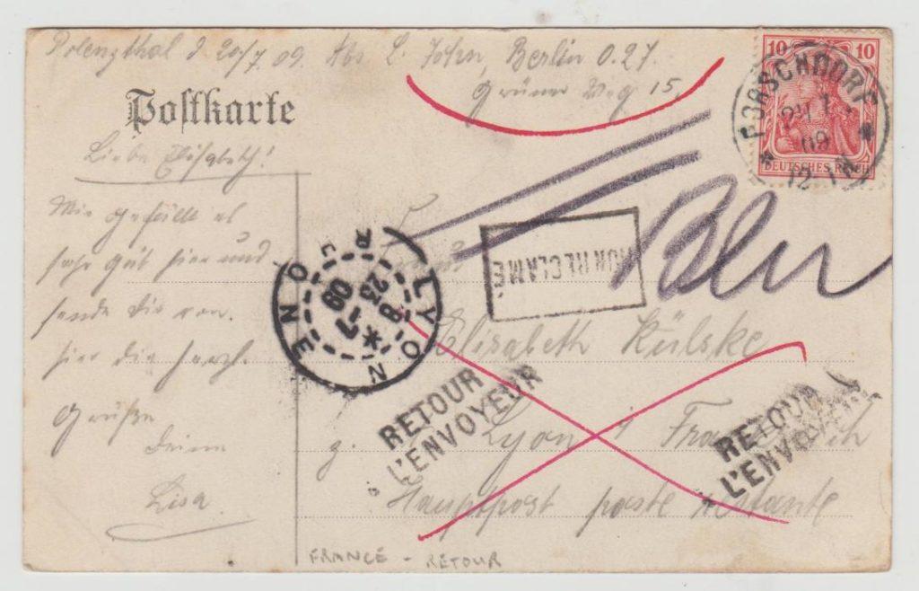Germany return to sender 1909