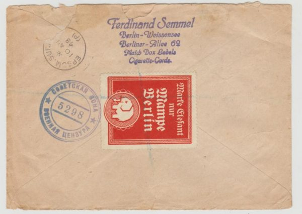 Berlin to GB 1948