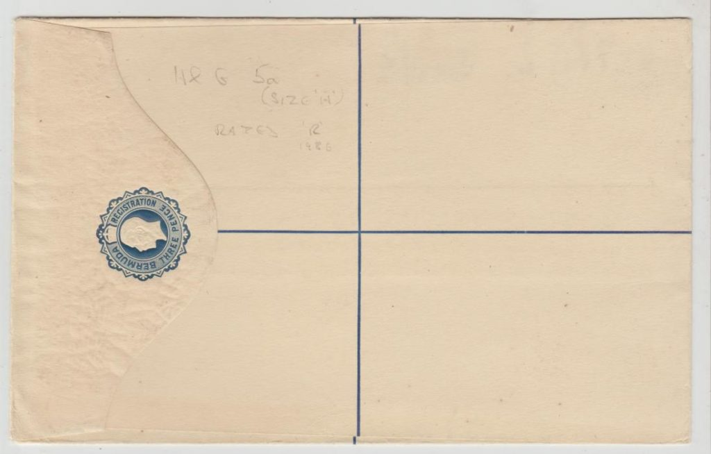Bermuda threepence registered envelope 1922